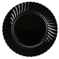 WNA Comet CW9180BK Classicware 9 inch Black Plastic Plate - 180/Case
