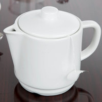 Arcoroc R0819 Candour 15 oz. White Porcelain Stackable Teapot by Arc Cardinal - 8/Case