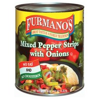 Furmano's Mixed Pepper Strips with Onions #10 Can