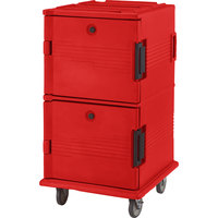 Cambro UPC1600158 Hot Red Camcart Ultra Pan Carrier - Front Load