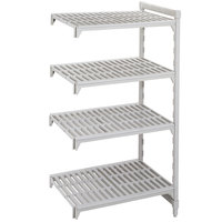 Cambro CPA244872S4480 Camshelving Premium 4 Shelf Vented Add On Unit - 24 inch x 48 inch x 72 inch