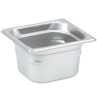 Vollrath 90622 Super Pan 3® 1/6 Size Anti-Jam Stainless Steel Steam Table Pan - 2 1/2 inch Deep
