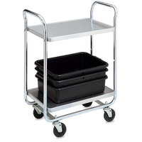 Vollrath 97161 Thrift-I-Cart Chrome 2 Shelf Cart - 33 inch x 21 inch x 36 1/2 inch