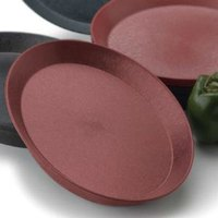 HS Inc. HS1056 12 inch Raspberry Polypropylene Round Deli Server - 24/Case