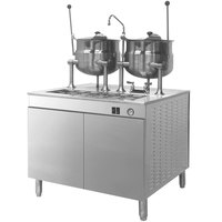 Cleveland 36-EM-K66-24 Electric Tilting (2) 6 Gallon 2/3 Steam Jacketed Kettles with Modular Generator Base - 240V, 3 Phase, 24 kW