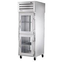 True STG1RPT-2HG-1G-HC Specification Series 27 1/2 inch Half Glass Front, Full Glass Back Door Pass-Through Refrigerator