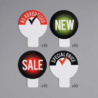 4-Assorted Style Deli Tag Toppers   - 40/Case