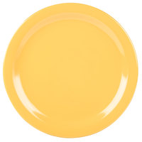 Carlisle 4350022 Dallas Ware 10 1/4 inch Honey Yellow Melamine Plate - 48/Case