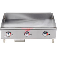 Star Max 636TF 36 inch Thermostatic Control Gas Countertop Griddle - 84,900 BTU