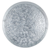 Tablecraft GP12 12 inch Galvanized Steel Round Platter