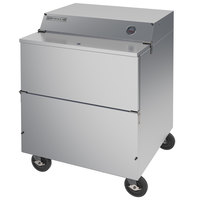 Beverage-Air SM34N-S 34 1/2 inch Stainless Steel 1-Sided Cold Wall Milk Cooler