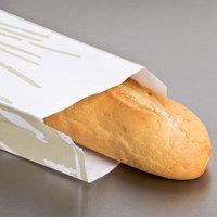 4 1/2 inch x 2 1/2 inch x 28 inch Printed Baguette Bread Bag - 1000/Case