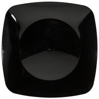 "Fineline Renaissance 1508-BK 7 1/2"" Black Customizable Plastic Salad Plate - 120/Case"