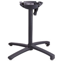 Grosfillex USX1W017 X1 200 Black Tilt Top Aluminum Outdoor Table Base