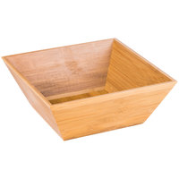 American Metalcraft BAM124 Square Bamboo Bowl - 12 inch x 4 1/2 inch