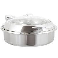 Vollrath 46125 6 Qt. Intrigue Glass Top Round Induction Chafer with Stainless Steel Trim and Stainless Steel Food Pan