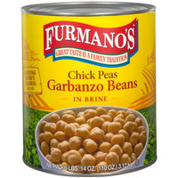 Furmano's #10 Can Extra-Fancy Chick Peas (Garbanzo Beans)   - 6/Case