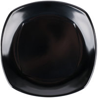 Carlisle 4330803 Upturned Corner 8 inch Black Square Melamine Plate - 48/Case