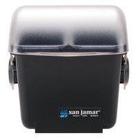 San Jamar BD2003 The Dome Mini Dome Bar Chillable Condiment Holder with Two 1-Pint Trays