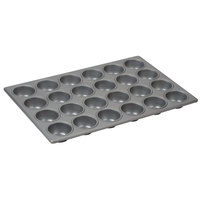 24 Cup 3.8 oz. Glazed Aluminized Steel Muffin / Cupcake Pan - 14 1/16 inch x 20 11/16 inch