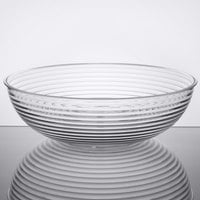 Cambro RSB18CW135 20.2 Qt. Clear Camwear Round Ribbed Bowl