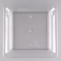 Fineline 3500-CL Platter Pleasers 10 3/4 inch x 10 3/4 inch Clear Plastic Square Tray - 25/Case