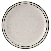Tuxton TES-007 Emerald 7 1/4 inch Green Speckle Narrow Rim China Plate - 36/Case