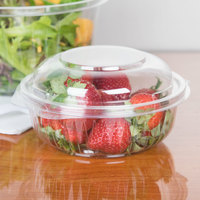 Dart C12HBD PresentaBowls 12 oz. Clear Hinged Plastic Bowl with Dome Lid - 300/Case