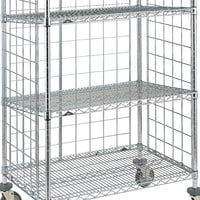 Metro SLT2436NC Super Erecta Chrome Slanted Shelf for AST35MC and AST35DC Shelf Trucks - 24 inch x 36 inch