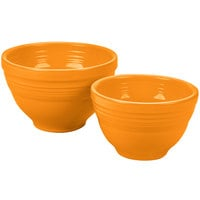 Homer Laughlin 867325 Fiesta Tangerine 2-Piece Prep Baking Bowl Set - 2/Case