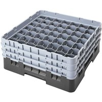Cambro 49S318110 Black Camrack Customizable 49 Compartment 3 5/8 inch Glass Rack