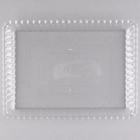 Fineline 293-CL Flairware 9 inch x 13 inch Clear Plastic Rectangular Tray - 48/Case
