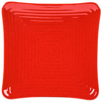 GET ML-63-RSP Milano 10 1/4 inch Red Sensation Square Melamine Plate - 12 / Pack
