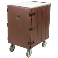 Cambro 1826LTC131 Camcart Dark Brown Mobile Cart for 18 inch x 26 inch Sheet Pans and Trays