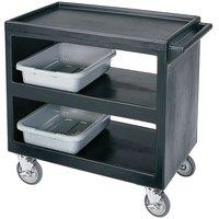 Cambro BC2354S Black Three Shelf Service Cart - 37 1/4 inch x 21 1/2 inch x 34 5/4 inch