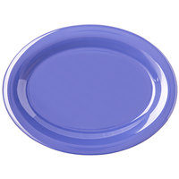 Carlisle 4308214 Durus 12 inch Ocean Blue Oval Melamine Platter - 12/Case