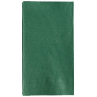 Choice 15 inch x 17 inch Customizable Hunter Green 2-PlyPaper Dinner Napkin - 125/Pack