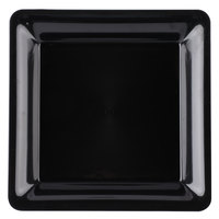 Fineline 3500-BK Platter Pleasers 10 3/4 inch x 10 3/4 inch Black Plastic Square Tray - 25/Case