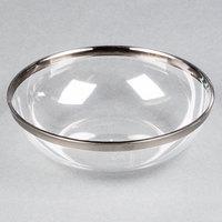 Sabert IMB144S 10 oz. Clear Bowl with Silver Rim - 144/Case