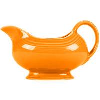 Homer Laughlin 486325 Fiesta Tangerine 18.5 oz. Sauce Boat - 4/Case
