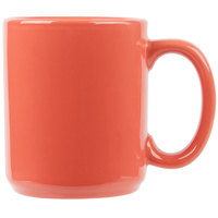 Tuxton BNM-1202 DuraTux 12 oz. Cinnebar China C-Handle Mug - 24/Case