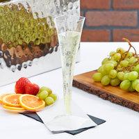 Fineline Wavetrends 1205 Clear Plastic 5 oz. 1-Piece Champagne Flute   - 72/Case
