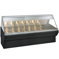 Alto-Shaam EC2SYS-96 S/S Stainless Steel Heated Display Case with Angled Glass and Base - Full Service 96 inch