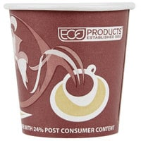 Eco Products EP-BRHC4-EW Evolution World PCF 4 oz. Paper Hot Cup - 50/Pack