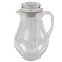 Tablecraft 328 96 oz. Plastic Pitcher with Ice Core