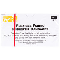 Medique 62612 Medi-First 1 3/4 inch x 2 inch Woven Fingertip Bandage - 10/Box