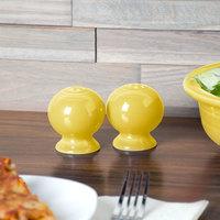 Homer Laughlin 497320 Fiesta Sunflower China Salt and Pepper Shaker Set - 4/Case
