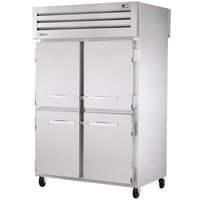 True STG2RPT-4HS-2G-HC Specification Series 52 5/8 inch Half Solid Front, Full Glass Back Door Pass-Through Refrigerator