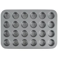 24 Cup Steel Non-Stick Mini Muffin Pan 1 oz.