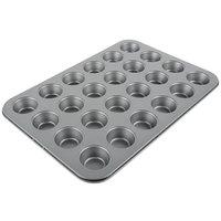 24 Cup 1 oz. Non-Stick Carbon Steel Mini Muffin Pan - 10 inch x 15 1/4 inch